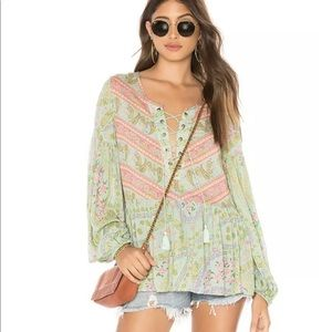 💚BNWT Spell & the Gypsy City Lights Blouse Sage